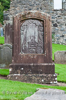 Robert Burns` family grave, Kirkoswald Old Parish Church.